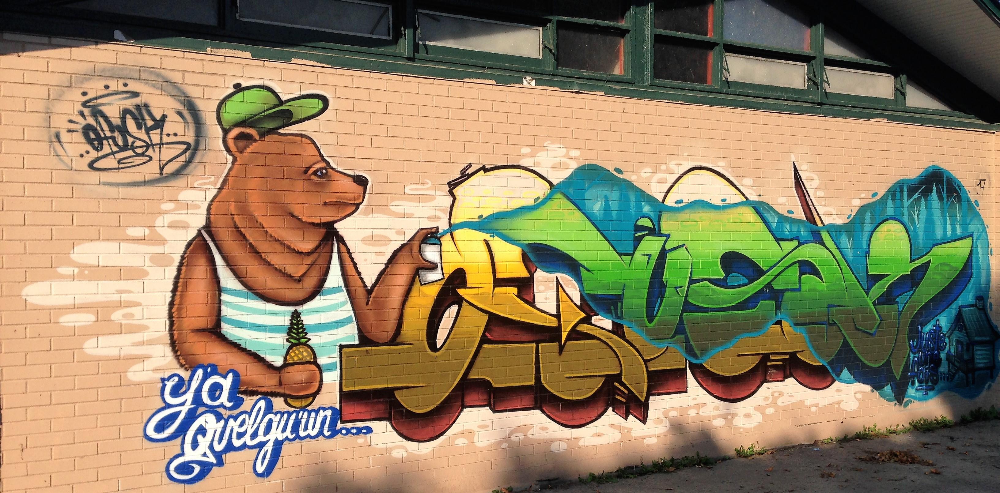 murale au parc Pierre-Bédard - bilan 2017