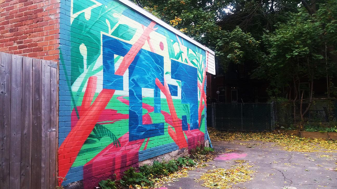 murale de la ruelle verte Ohaha