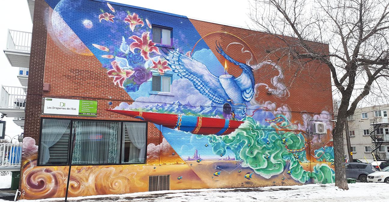 Murale des draperies del'Est