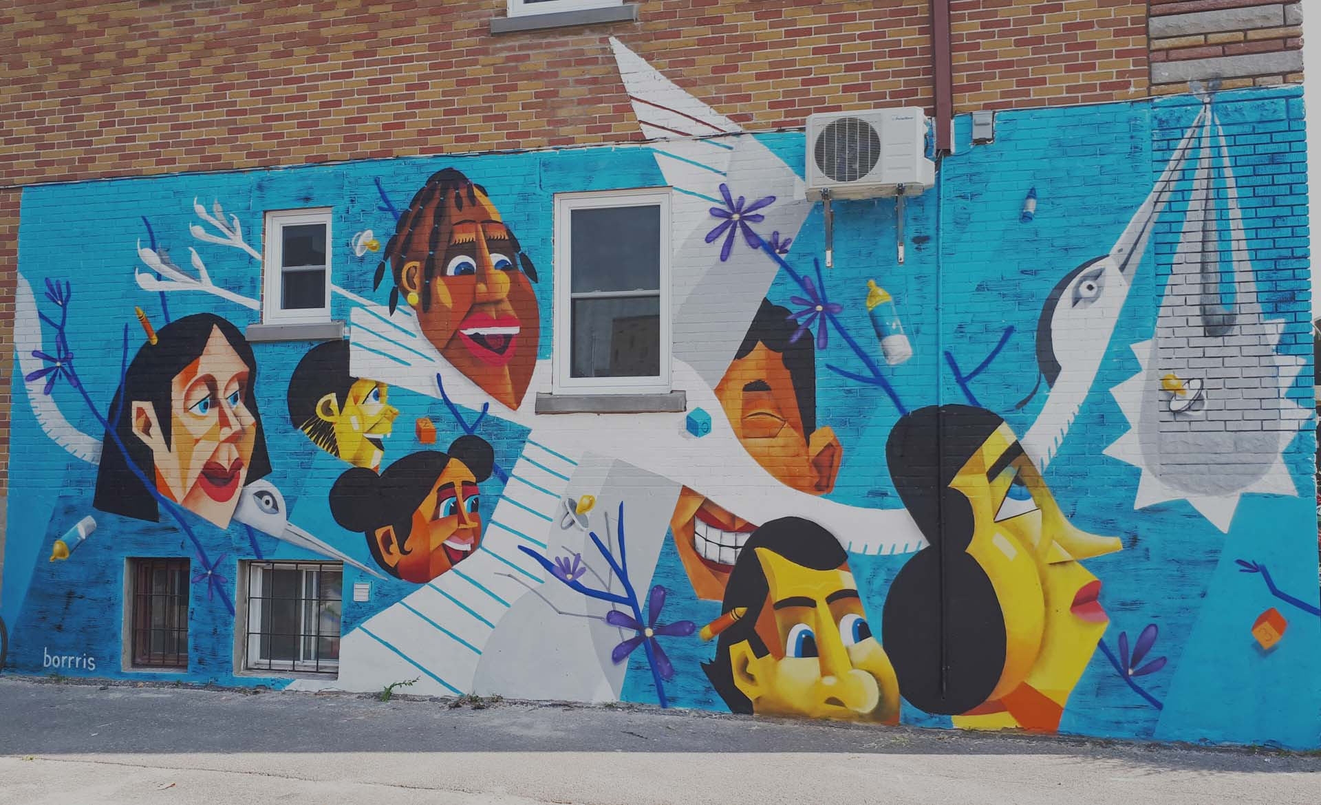 Slider service de création de murales - artiste Borrris