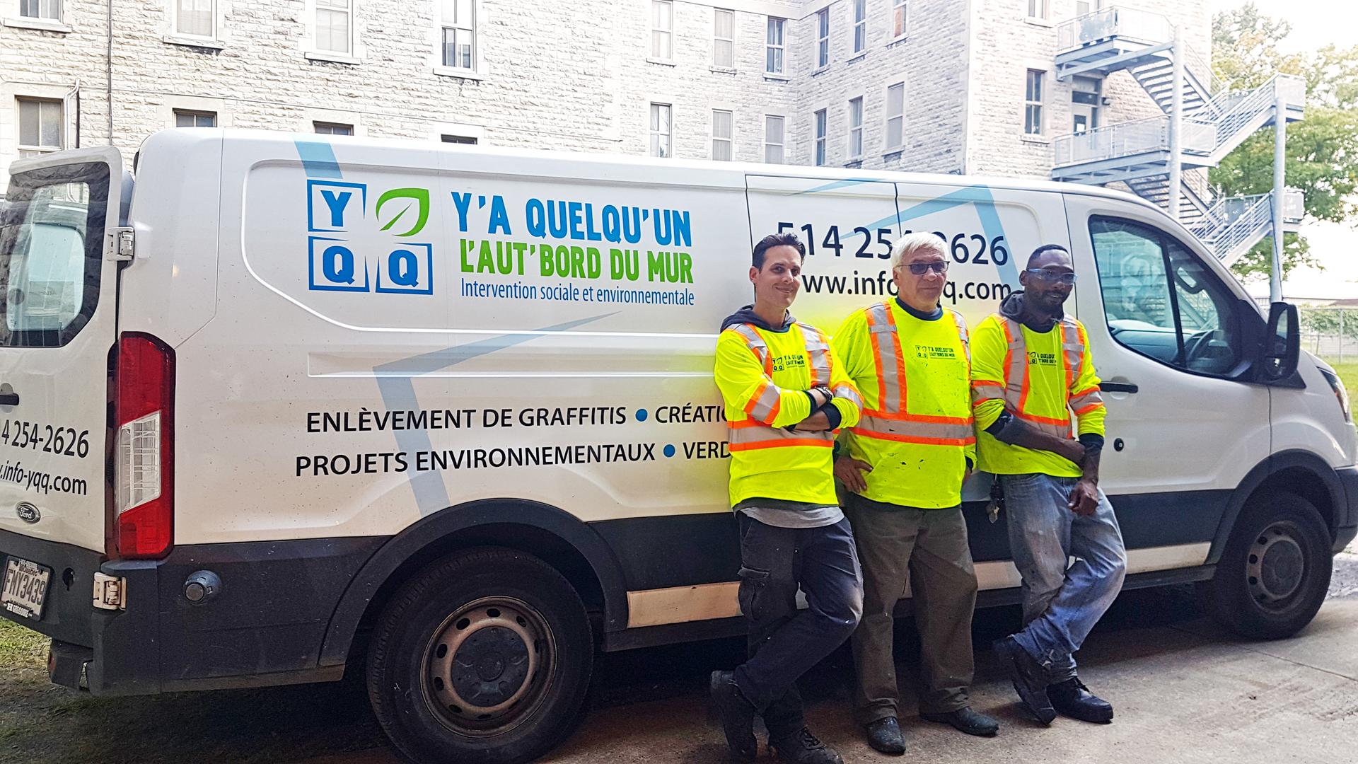 notre équipe de techniciens en enlèvement de graffitis 2019